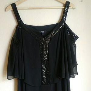 MSK Plus Size Cold Shoulder Dress